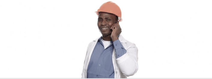 Employee-with-Mobile-Phone